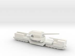 soviet railway artillery TM-1-180 1/285  in White Natural Versatile Plastic