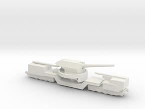 soviet railway artillery TM-1-180 1/285  in White Natural Versatile Plastic