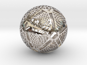 Icosahedron Projection on Sphere in Platinum