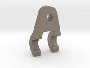 Handcar 1:6 Scale Brake Link Bracket in Matte Bronzed-Silver Steel