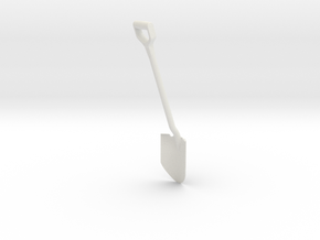 Shovel, Spade 1:6 Scale in White Natural Versatile Plastic