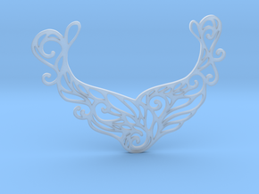 Butterfly pendant in Smooth Fine Detail Plastic: Large