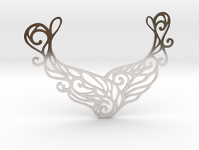 Butterfly pendant in Rhodium Plated Brass: Large