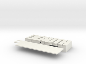Rpi 0 DEAUTH case in White Natural Versatile Plastic