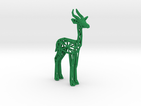 Gerenuk in Green Processed Versatile Plastic