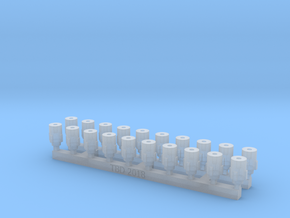 Bolt Rifle Suppressors Stubby v1 x20 in Smoothest Fine Detail Plastic