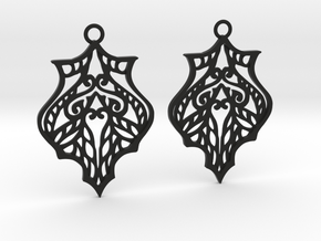 Eris earrings in Black Natural Versatile Plastic: Large