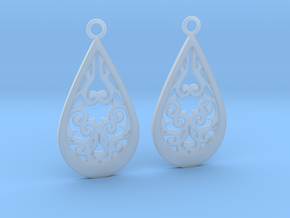 Persephone earrings in Smooth Fine Detail Plastic: Large