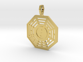 Bagua symbol flat in Polished Brass