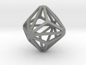 Triakis Octahedron in Gray PA12: Small