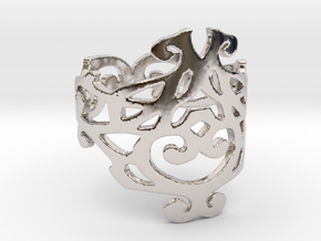 Elizabeth ring (Size 7) in Rhodium Plated Brass