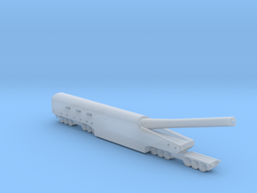 WWI US Naval 14 inch railway artillery 1/285 in Smooth Fine Detail Plastic
