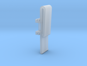 Vertical Valance Clip Delmar 01 in Smooth Fine Detail Plastic