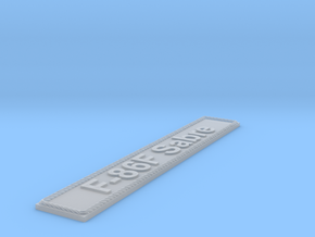 Nameplate F-86F Sabre in Smoothest Fine Detail Plastic