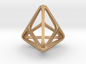 Triakis Tetrahedron in Natural Bronze: Small