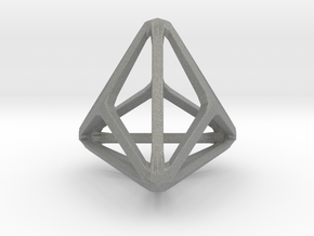 Triakis Tetrahedron in Gray Professional Plastic: Small