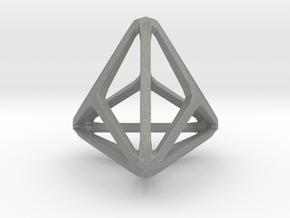 Triakis Tetrahedron in Gray PA12: Small