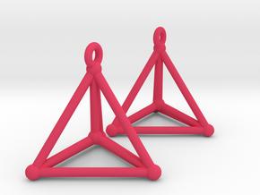 Hypersimplex Earrings in Pink Processed Versatile Plastic