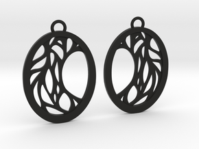 Meliae earrings in Black Natural Versatile Plastic: Large