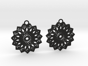 Lelia earrings in Black Natural Versatile Plastic: Large