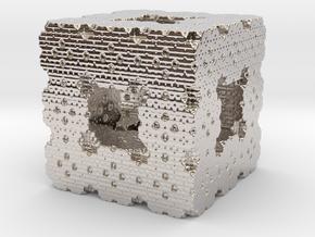 Menger Cube Fractal in Platinum