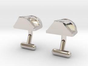 Boba Fett Cufflinks in Rhodium Plated Brass