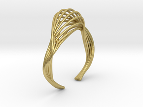 Liquid Tension* Bangle ( M ) in Natural Brass