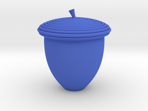 Acorn Pencil Topper in Blue Processed Versatile Plastic