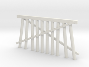 Double Track Trestle N (1:160) Modular Ten Piles in White Natural Versatile Plastic