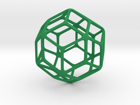 Rhombic Triacontahedron in Green Processed Versatile Plastic: Large