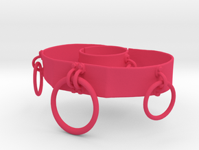 O Belt and O Bracelet Set in Pink Processed Versatile Plastic: Small