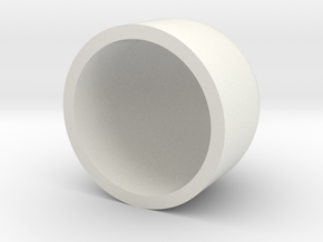 Dome 40mm (Flat Bottom) in White Natural Versatile Plastic
