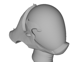 Dark Eldar - Space Eld - Reaver Helm with Fin x10 in Smooth Fine Detail Plastic