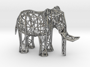 African Elephant (adult male) in Natural Silver