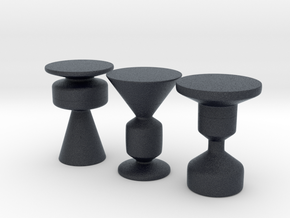Miniature Waterline Occasional Table Roche Bobois in Black Professional Plastic: 1:12