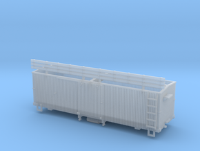 HOn3 25 foot Boxcar [without roof] in Smooth Fine Detail Plastic