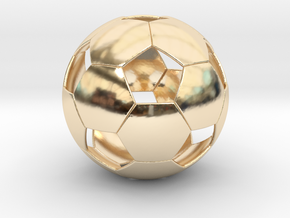 Soccer ball in 14K Yellow Gold