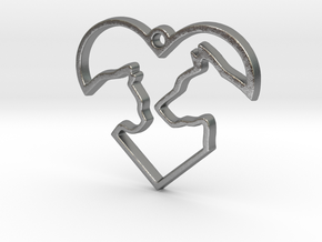 Share the Love in Natural Silver