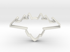 Jet Airplane Cookie Cutter (XLG Thin) in White Natural Versatile Plastic