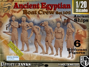 1/20 Ancient Egyptian Boat Crew Set102 in White Natural Versatile Plastic