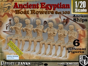 1/20 Ancient Egyptian Boat Rowers Set103 in White Natural Versatile Plastic