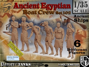 1/35 Ancient Egyptian Boat Crew Set102 in Smooth Fine Detail Plastic