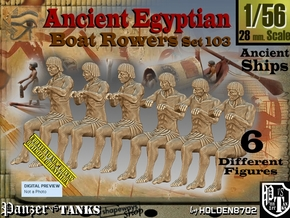 1/56 Ancient Egyptian Boat Rowers Set103 in Smooth Fine Detail Plastic