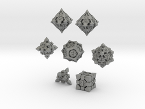 Fortress Dice Set with Decader  in Gray Professional Plastic