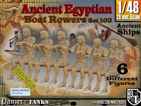 1/48 Ancient Egyptian Boat Rowers Set103 in Smooth Fine Detail Plastic