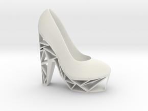 Right Triangle Heel in White Natural Versatile Plastic
