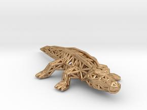Nile Crocodile in Natural Bronze