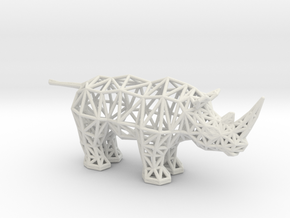 White Rhinoceros (adult) in White Premium Versatile Plastic