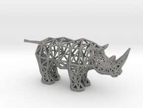 White Rhinoceros (adult) in Gray Professional Plastic