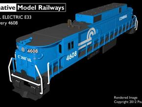 NE3307 N scale E33 loco - Conrail 4608 in Smooth Fine Detail Plastic